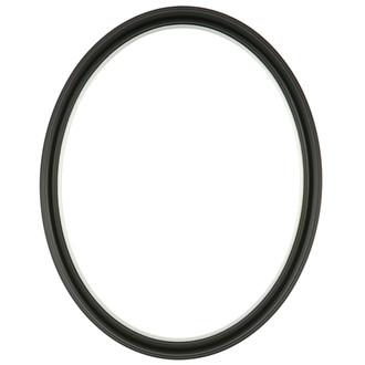 Hamilton Oval Frame # 551 - Matte Black with Silver Lip