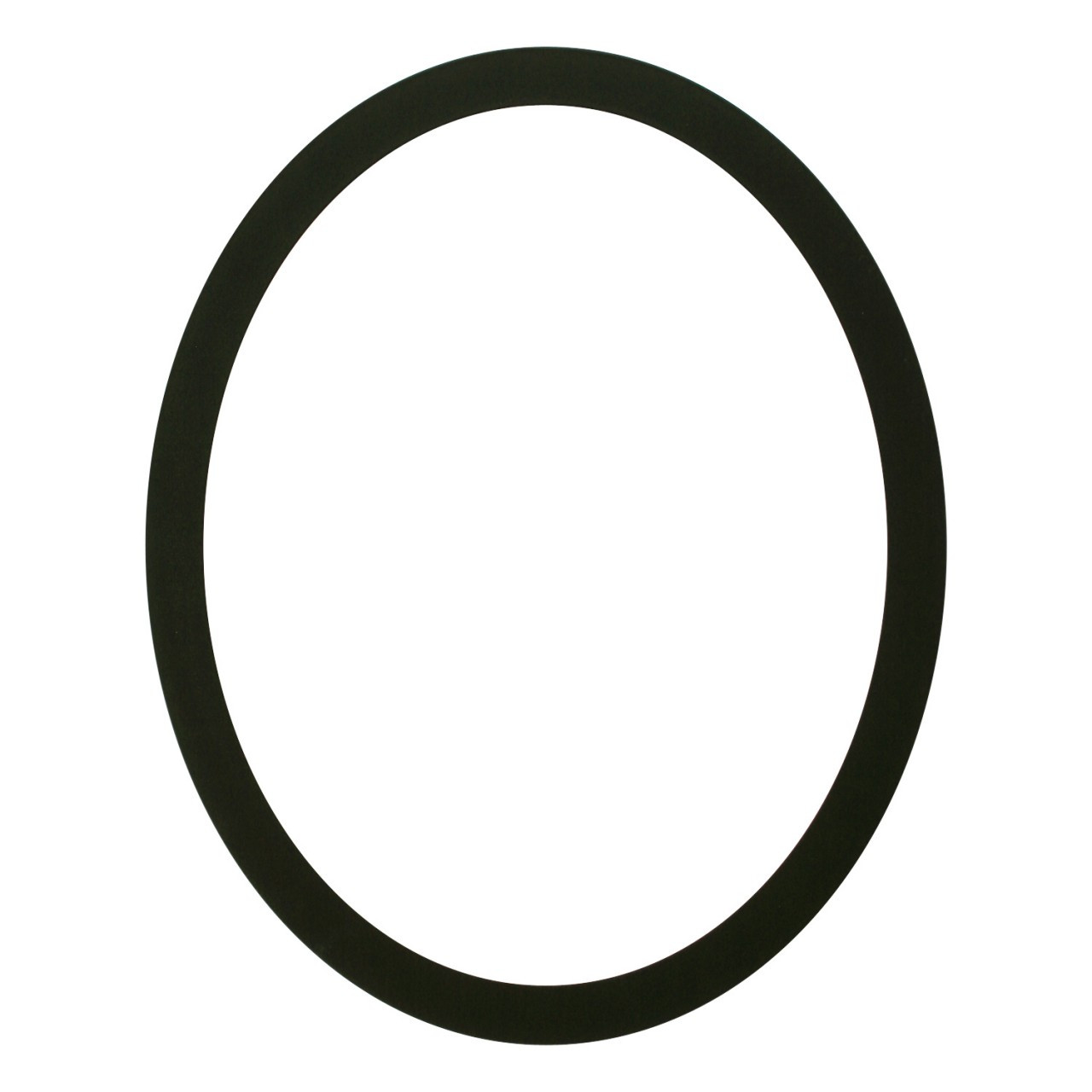 simple oval frame oval frame in matte black finish simple black