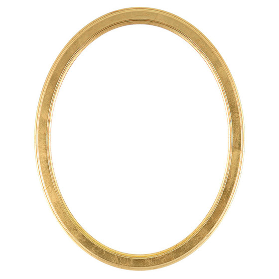 Oval Frame in Gold Leaf Finish| Simple Antique Gold Wooden Picture ...