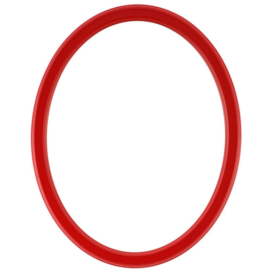 Oval Frame in Holiday Red Finish| Simple Red Wooden Picture Frames