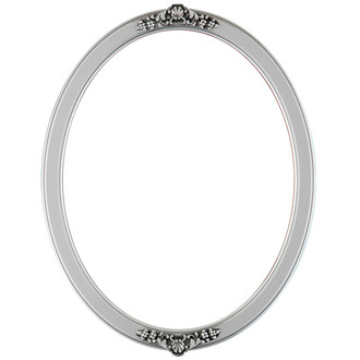 Athena Oval Frame # 811 - Silver Spray