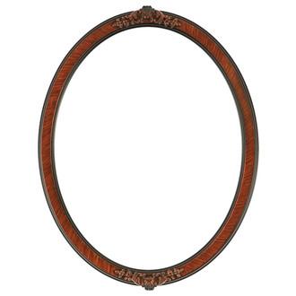 Athena Oval Frame # 811 - Vintage Walnut