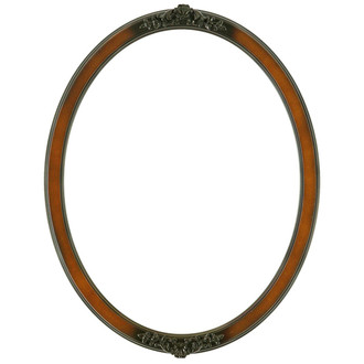 Athena Oval Frame # 811 - Walnut