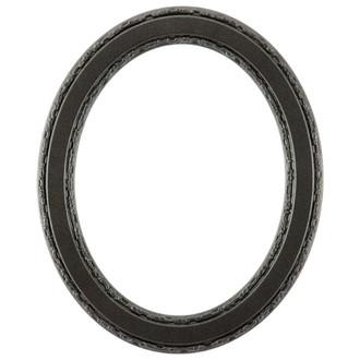 Monticello Oval Frame # 822 - Black Silver