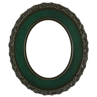 Williamsburg Oval Frame # 844 - Hunter Green