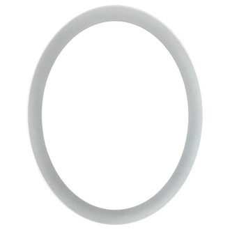 Manhattan Oval Frame # 851 - Bright Silver