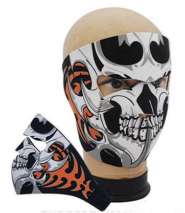 Tribal Skull Ski Mask