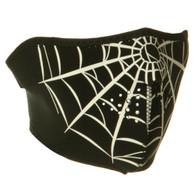 1/2 Spiderweb Ski Face Mask Front View
