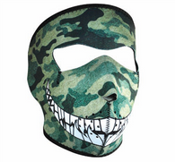 Camo With Teeth Neoprene Face Mask