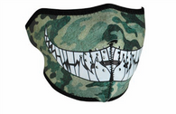 Half Camo with Teeth Neoprene Face Mask