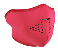 Hot Pink Ski Half Face Mask