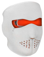 Orange/ White Ski Face Mask