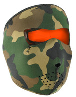 Orange/ Woodland Ski Face Mask