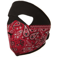 Red Paisley Ski Mask