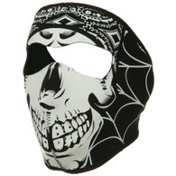 Lethal Threat Gangster Skull Neoprene Ski Mask