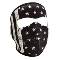B&W Vintage Flag Neoprene Face Mask