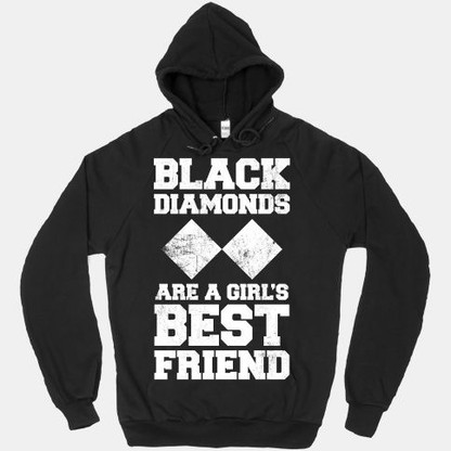 Black diamonds are a girls best friend shirt