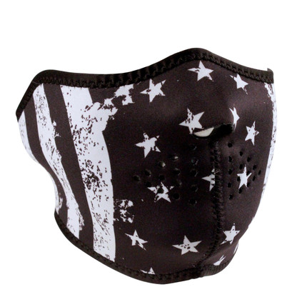 Black and White Flag Neoprene Mask