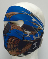 Blue Tribal Skull Neoprene Ski Mask