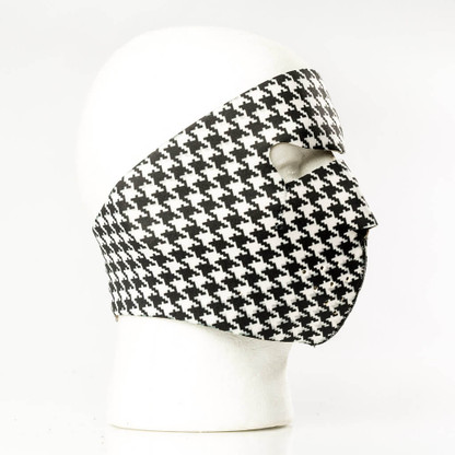 Hounds Tooth Face Mask