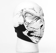3D Black & White Skull Full Ski Mask