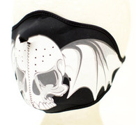 Skull Wings Ski Half Face Mask