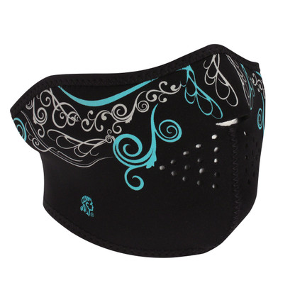 Glow in the Dark, Venetian Half Neoprene Face Mask