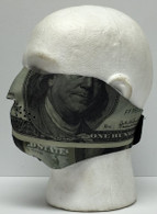 Hundred Dollar Bill Half Neoprene Face Mask