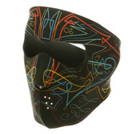 Pinstripe  Ski Face Mask Front View