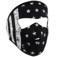 Youth Black And White Flag  Ski Mask