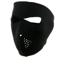 Black Ski Full Mask Front View