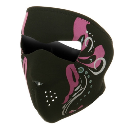 Ski Full Face Mask - Mardi Gras - Front View