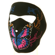 Butterfly Ski Face Mask Front View