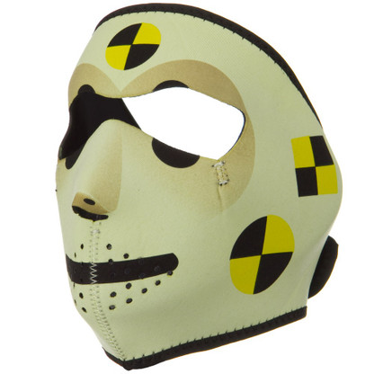 Crash Test Dummy Ski Face Mask Front View
