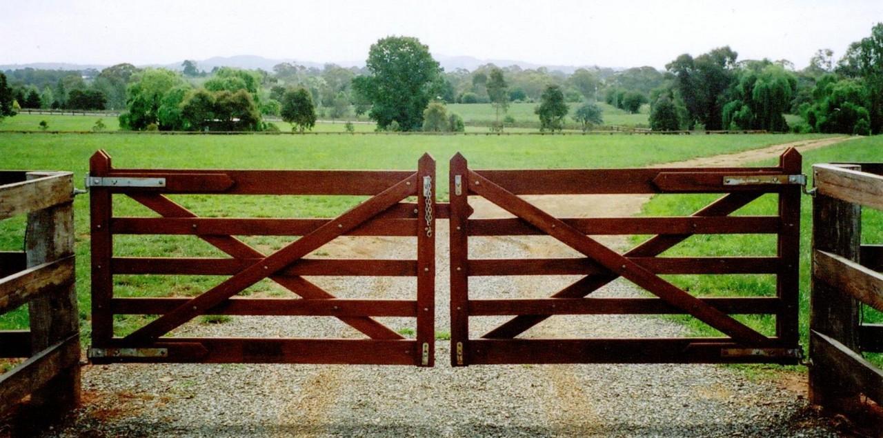 Rail double farm gate m