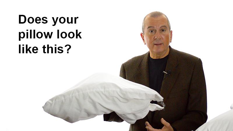 limp under stuffed old pillow