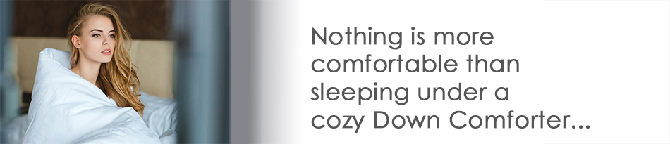 Sleep in Vero's luxury down comforters