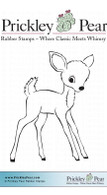 Bambi - Red Rubber Stamp