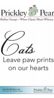 Cats Leave Paw Prints - Red Rubber Stamp
