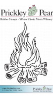 Campfire - Red Rubber Stamp