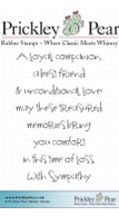 A Loyal Companion - Red Rubber Stamp