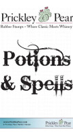 Potions and Spells - Red Rubber Stamp