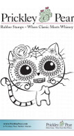 Day of the Dead Cat - Red Rubber Stamp