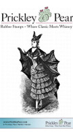Bat Lady - Red Rubber Stamp