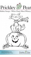 Halloween Scribble Kitty - Red Rubber Stamp