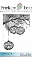 Falling Pumpkins - Red Rubber Stamp