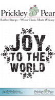 Joy to the World - Red Rubber Stamp