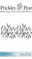 Wheat Field - Red Rubber Stamp