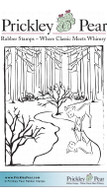 Winters Reflection - Red Rubber Stamp