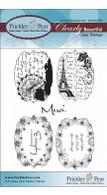 Flourished Oval Sentiments - Clear Stamp Set